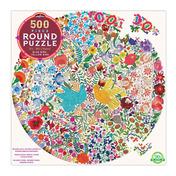 Blue Bird Yellow Bird 500 Piece Round Puzzle