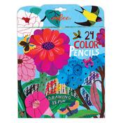 Zinnia 24 Color Pencils in a Paper Box