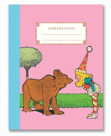 Bear and Candy Girl Composition Notebook picture