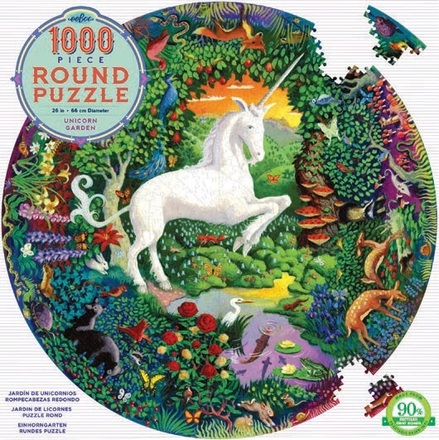 1000 Piece Round Unicorn Puzzle picture