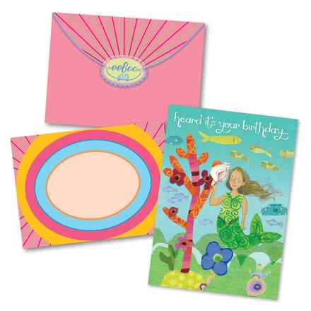 Mermaid With Shell Birthday Card picture