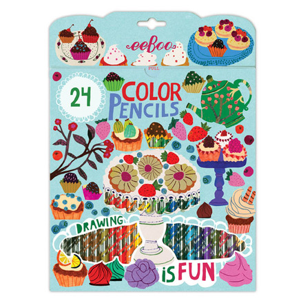 Desserts 24 Color Pencils in a Paper Box picture