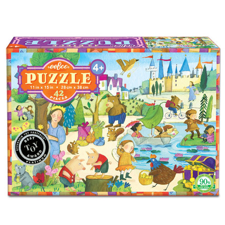 Mystery in the Forest 42 Piece Puzzle picture