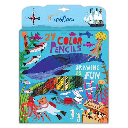 In the Sea 24 Color Pencils in a Paper Box picture