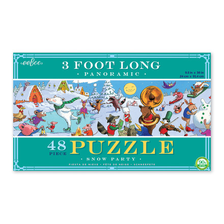 Snow Party 48 Piece Panoramic Puzzle picture