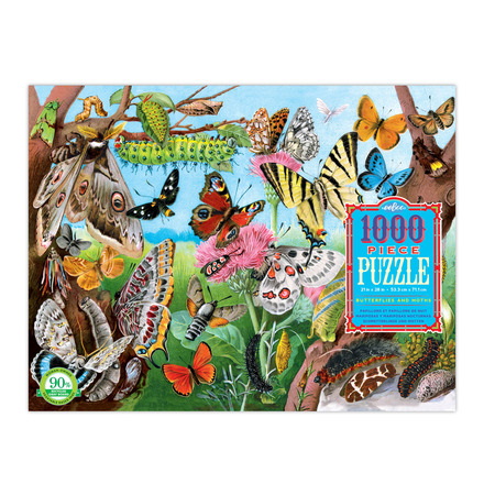 Butterflies & Moths 1000 Piece Puzzle picture