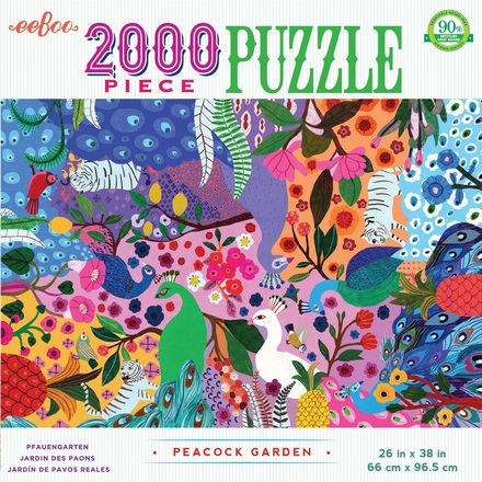 Peacock Garden 2000 Piece Puzzle picture