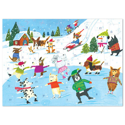 Skating Dogs Advent Calendar picture