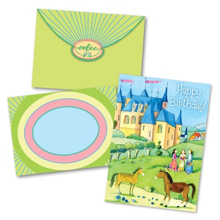 Girls and Castle Birthday Card picture