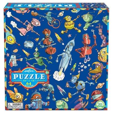Lots of Robots 64 Piece Puzzle picture