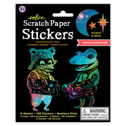 Space Adventure Scratch Paper Stickers picture