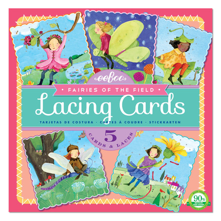 Fairies of the Field Square Lacing Cards picture