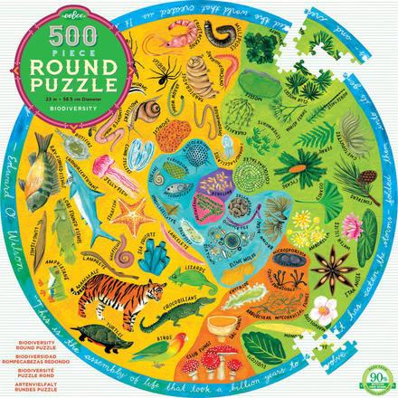 Biodiversity 500 Piece Round Puzzle picture