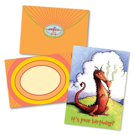Sassy Dragon Birthday Card picture