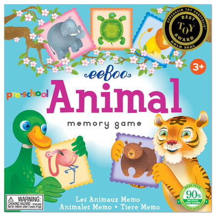 Pre-School Animal Memory Game picture