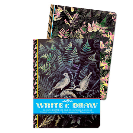 Doves in Ferns Write and Draw Notebook Set picture