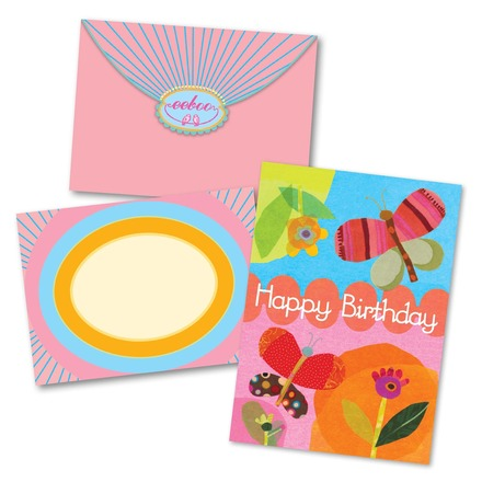Collage of Butterfly Birthday Card picture