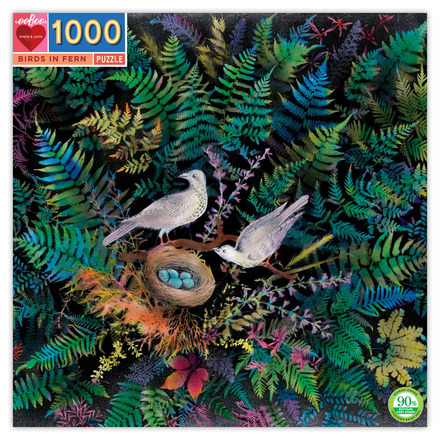 Birds & Ferns 1000 Piece Puzzle picture