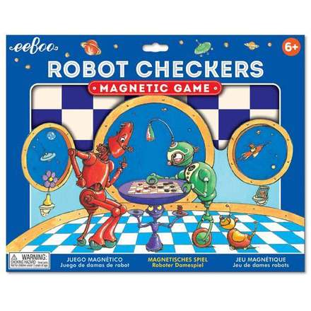 Robot Checkers Magnetic Game picture