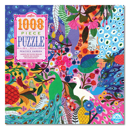 Peacock Garden 1000pc Puzzle picture