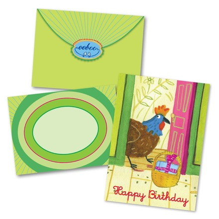 Rooster At The Door Birthday Card picture