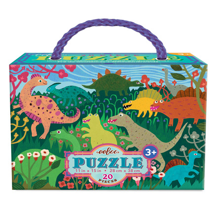 Dinosaur Meadow 20 Piece Puzzle picture