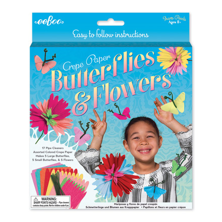 Crepe Paper Butterflies & Flowers Kit picture