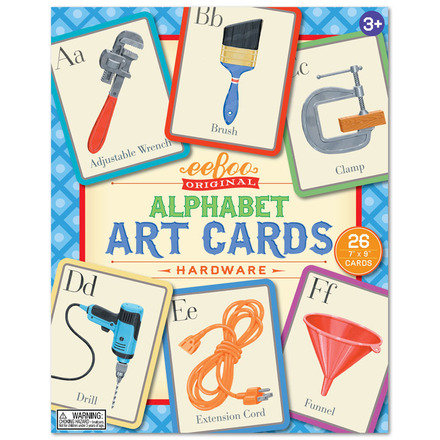 Hardware Alphabet Art Cards picture