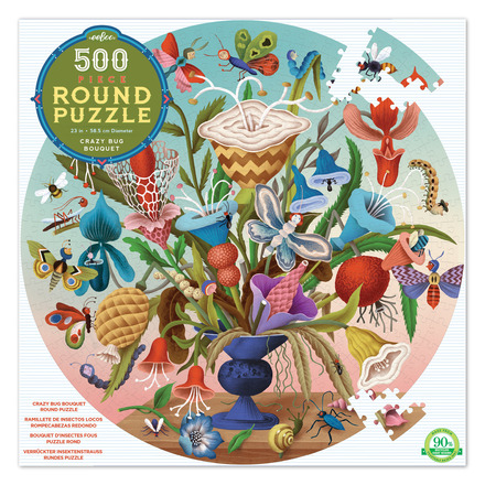 Crazy Bug Bouquet 500 Piece Round Puzzle picture