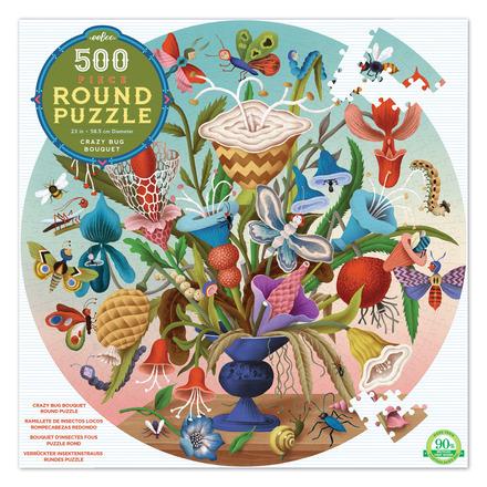 Crazy Bug Bouquet 500 Piece Round Puzzle picture