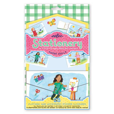 Paper Doll Fold-to-Mail Stationery Set picture