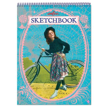Bicycle Girl Metallic Sketchbook picture