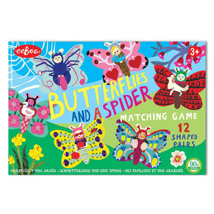 Butterflies and a Spider Shaped Matching Game picture