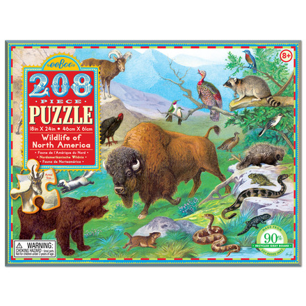 Wildlife of North America 208pc Puzzle picture