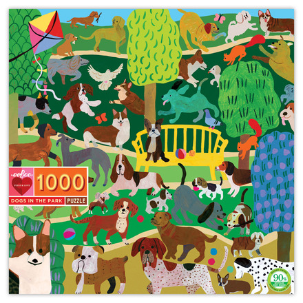 Dogs in the Park 1000 Piece Puzzle picture
