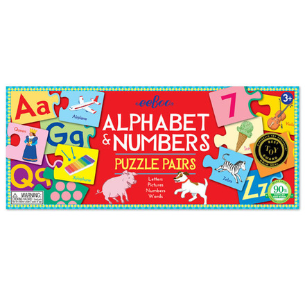 Alphabet & Numbers Puzzle Pairs picture