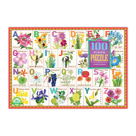 Flower Alphabet 100 Piece Puzzle picture
