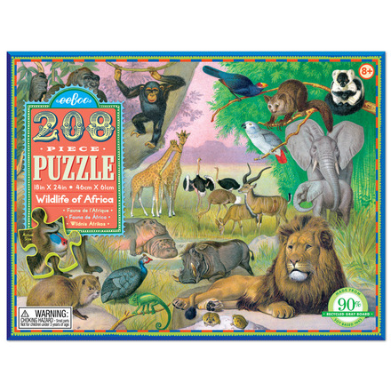 Wildlife of Africa 208pc Puzzle picture