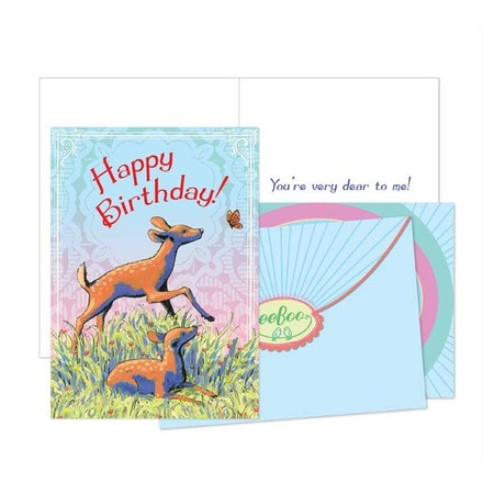 Fawn Birthday Card picture
