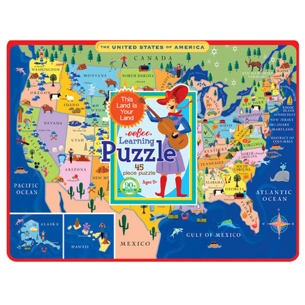 United States Map Tray Puzzle picture