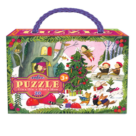 Christmas in the Woods 20 Piece Glitter Puzzle picture