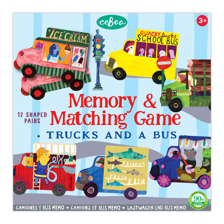 Trucks and a Bus Matching Game picture