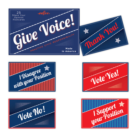 Give Voice Postcards picture