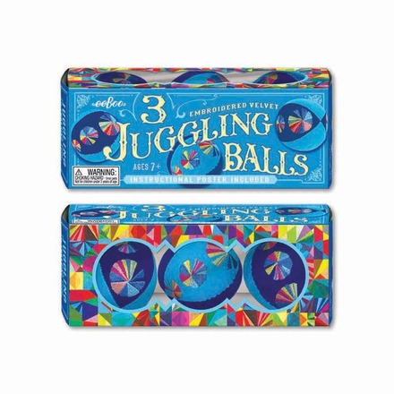 Blue Juggling Balls - Set of 3 picture