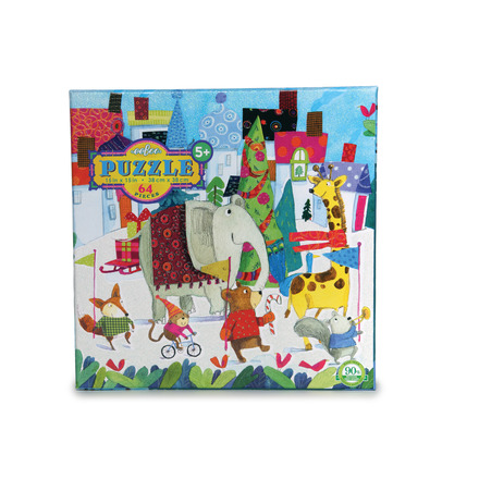 Holiday Parade 64 Piece Glitter Puzzle picture