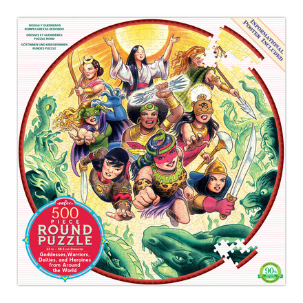 Goddesses & Warriors 500 Piece Round Puzzle picture