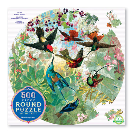Hummingbirds 500 Piece Round Puzzle picture