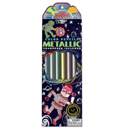 Silver Robot Metallic Pencils picture