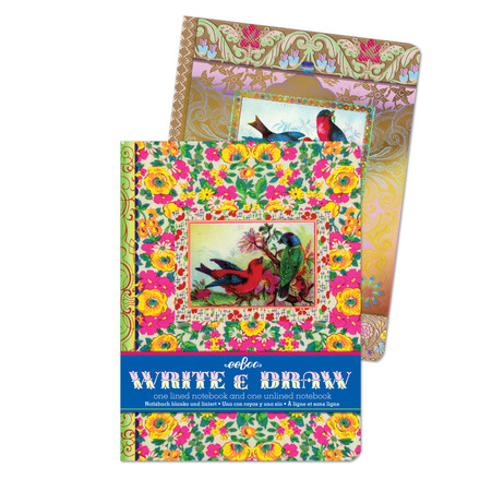 Victorian Bird Write and Draw Notebook Set