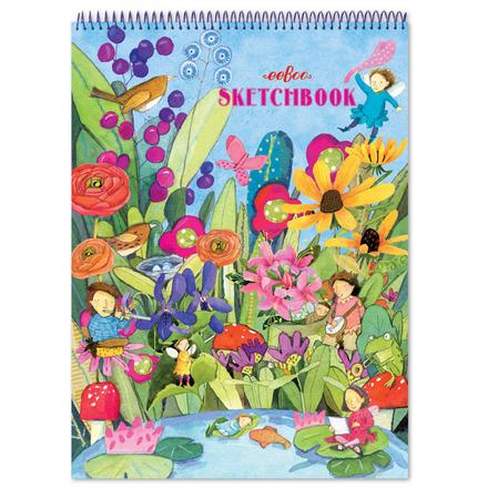 Garden Fairies Striped Biggies Sketchbook picture